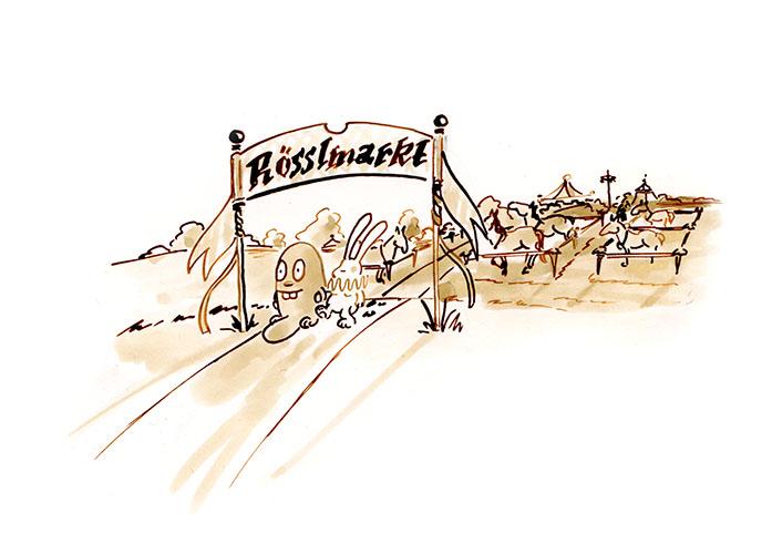 auf dem Rösslmarkt